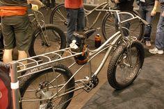 Titanium fat tire cargo bike Jeff Jones spaceframe