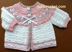 Free Baby crochet pattern for Premature cardigan http://www.justcrochet.com/prem-cardi-usa.html #freebabycrochetpatterns #patternsforcrochet