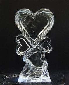 by Masterpiece Ice Sculptures. Snow And Ice, Fire And Ice, Snow Sculptures, Sculpture Art, Ice Sculpture Wedding, Ice Heart, Map Pictures, Photos, Snow Art