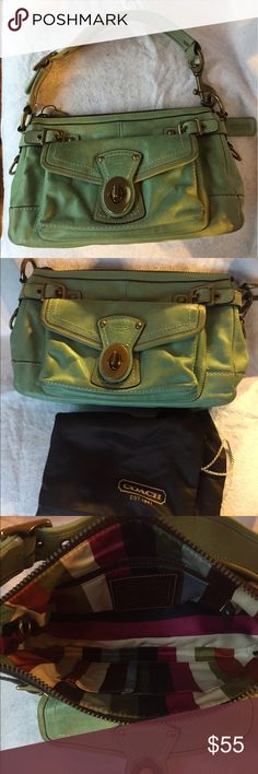 COACH Aqua Shoulder Bag COACH Aqua Shoulder Bag Coach Bags Shoulder Bags