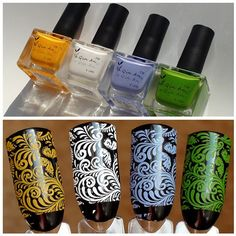 """High Quality Large Size Candy Colored Stamping Polishes!!! You can work perfectly with your stamping plates. Only $5.99 for one bottle with the capacity of 18ml. Search them (#19168)&(#20702)&(#21282) in www.bornprettystore.com Use code """"BPSQ10"""" to enjoy 10% Off for your order. #bornpretty#bpsnailart#stampingpolish#nailart#stamping#stampingnails"""