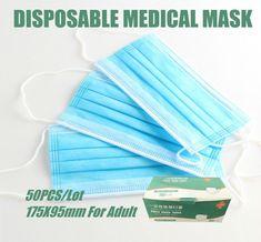 Medical Face Mask 50 Pcs Disposable Medical Masks Respirator 3 Layer Earloop Masks For Adult Surgical Medical Masks
