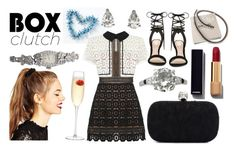 """""""Box Clutch"""" by ac-silver ❤ liked on Polyvore featuring self-portrait, Alexander McQueen, Longines, ALDO, Chanel, LSA International, ASOS, contemporary, vintage and women's clothing"""
