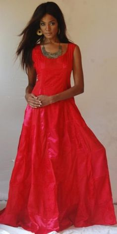 #A814 RED/DRESS-WEDDING-MAXI-M L 1X 2X-PATCH-COM 'MADE 2 ORDER' LOTUSTRADERS