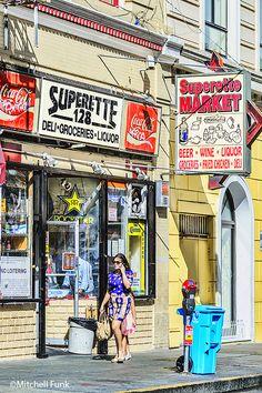 Superette Market Vintage Signs In The Tenderloin District,  San Francisco By Mitchell Funk   www.mitchellfunk.com