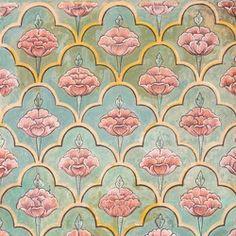 Mughal Wall Paintings At Jaipur City Palace - Rajasthan, India Imagen de archivo (stock) 284745488 : Shutterstock Pichwai Paintings, Mughal Paintings, Indian Art Paintings, Mughal Miniature Paintings, Indian Prints, Arabesque, Fabric Painting, Islamic Art, Pattern Wallpaper