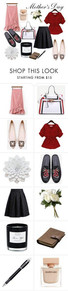 """""""Mother's Day"""" by aburguesita on Polyvore featuring National Tree Company, D.L. & Co., Rear View Prints, Montblanc and Narciso Rodriguez"""