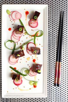 Beef Tongue Escabeche : Escabeche de Lengua de Res : Honey and Sriracha