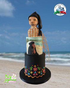 Nazaré - Portugal Wonders in Sugar Fishing Villages, Cake Art, Cake Decorating, Portugal, Cake Design, Sugar, Cakes, Embroidery, Folklore
