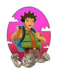 Brock Pokemon, Nintendo Characters, Fictional Characters, Gym Leaders, Super Smash Bros, Doodle Art, Trainers, Doodles, Fan Art