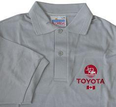 Toyota Canada Heavy Equipment Gray Polo Shirt L New