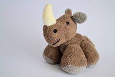 Hand sewn plush rhinoceros RINO :)