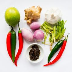 INGREDIENTS:Makes 2 cups (keeps birds-eye red garlic large knob if kaffir lime bunches Chilli Jam, Kaffir Lime