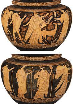 Attic dinos, attributed to Berlin painter Ancient Greek Art, Ancient Greece, Magna Graecia, Mycenae, Greek Pottery, Classical Antiquity, Social Art, Roman Art, Minoan