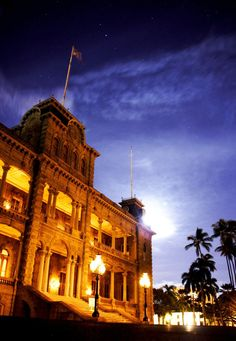 #Electric History: Iolani Palace becomes one of the world's first royal residences to be lit by electricity in 1886.
