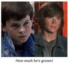 Carl Grimes. There is still no excuse for the Bieber haircut though haha