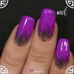 MANICURE IDEAS - From floral design to a fancy one, here's everything you need 🙂 By: Yagala Joan - Pretty Nail Art, Cute Nail Art, Cute Acrylic Nails, Nail Art Diy, Beautiful Nail Art, Cute Nails, Fancy Nail Art, Fancy Nails Designs, Nail Art Designs Videos