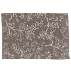 Taupe Stitches Placemat from Park Designs. Measures 13 x Featuring a cotton stylized floral print. Accessories matching this collection are available separa Parking Design, Natural Home Decor, Cloth Napkins, Placemat, Home Textile, Stitches, Taupe, Floral Prints, Textiles