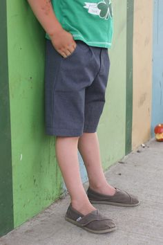 o+s sketchbook shorts--want to sew for my boys, but wish boys' clothes were more exciting.