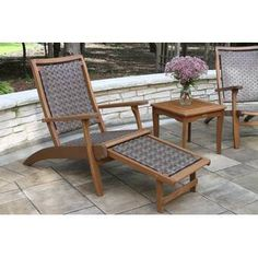 Enjoy a day in the brilliant sun or cooling shade with the Outdoors Interiors Outdoor Lounge Chair with Built-In Ottoman . Perfect poolside, this. Wood Patio Chairs, Patio Lounge Chairs, Eames Chairs, Desk Chairs, Upholstered Chairs, Chair Cushions, Side Chairs, Dining Chairs, Outdoor Armchair