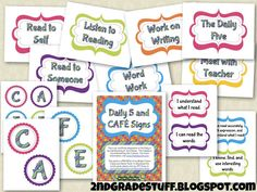 2nd Grade Stuff: Daily 5 and CAFE Signs {FREEBIE} and a SALE!