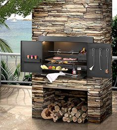Infiniti Charcoal / Wood Built-in Braai basic Built In Braai, Built In Grill, Built In Charcoal Grill, Parrilla Interior, Gazebos, Diy Grill, Indoor Grill, Outdoor Kitchen Design, Outdoor Living