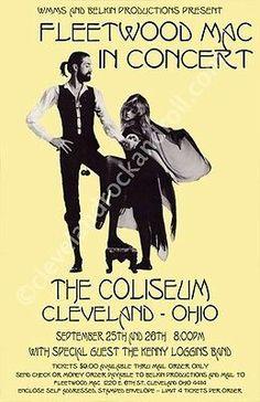 Fleetwood Mac Concert Poster https://www.facebook.com/FromTheWaybackMachine