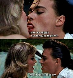 Cry Baby - this is literally how I picture french kissing Cry Baby Movie, Cry Baby 1990, Love Movie, Movie Tv, Johnny Depp Cry Baby, Young Johnny Depp, Johnny Depp Movies, Cry Baby Quotes, Disney Channel