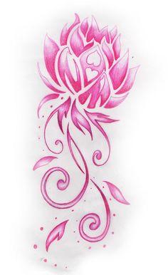 pink lotus flower design by bobbytatt, via Flickr