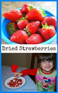 Easy Dried Strawberries - So simple and the kids thought they tasted like candy. We will be making these a LOT!