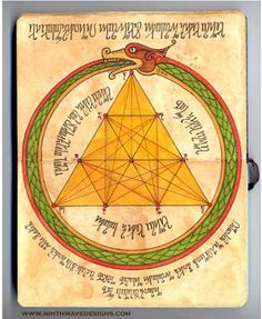 """A Hexagram in a Tetraktys surrounded by an Ourobouros  in Lisa's genious Alchemy illustration.  Courtesy of Lisa """"Ninth Wave Designs"""""""