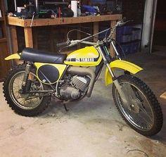 VINTAGE 1974 YAMAHA MX125 ALL ORIGINAL Black/Yellow Motorcycle Bike - Motocross