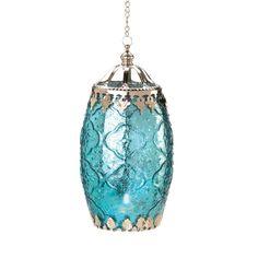 Aquamarine Filigree Lantern