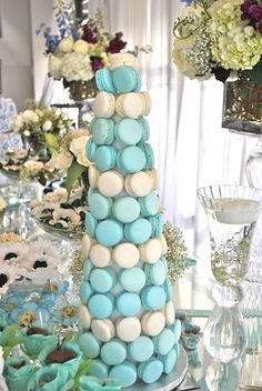 Blooming Table: Tiffany Blue Sweet 16