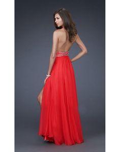 Chiffon Prom Dresses Long Prom Dress. BEAUTIFUL BACK!