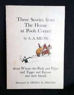 Three-Stories-From-The-House-At-Pooh-Corner-Book-Vintage-Tigger-Eeyore-1st-Print