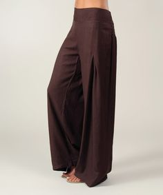 Look what I found on #zulily! Chocolate High-Waist Palazzo Pants - Women #zulilyfinds