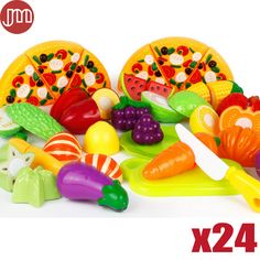 Find More Kitchen Toys Information about New 24 PCS Colorful Kids Kitchen Toys Pizza Vegetable Fruit Food Pretend Role Play Learning Educational Safe Plastic Child Gifts,High Quality gift boxes and packaging,China gifts london Suppliers, Cheap gift lyrics from M&J Toys Global Trading Co.,Ltd on Aliexpress.com