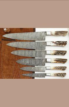 Chef Knife Set, Knife Sets, Handmade Chef Knife, Damascus Steel Chef Knife, Magnetic Knife Strip, Knife Making, Knife Block, Woodworking Shop, Kitchen Knives