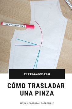 Trasladar una pinza en un patrón Dress Sewing Patterns, Quilt Patterns, Sewing Hacks, Sewing Projects, Black And White Quilts, Stitching Dresses, Quick Crochet, Pattern Drafting, Sewing Techniques