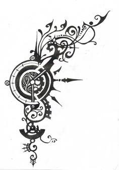 Tattoo design Clockworks by 1wordinsane.deviantart.com on @deviantART