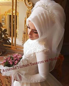 Bridal Hijab, Hijab Wedding Dresses, Hijab Bride, Hijab Dress, Wedding Gowns, Muslim Brides, Muslim Girls, Islamic Fashion, Wedding Hats