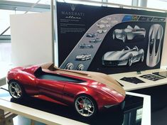 #Maserati Ettore concept by #Swansea graduate Josh Williams was inspired by iconic 250F.  See all the graduate projects [members] > https://www.formtrends.com/swansea-degree-show-2017/