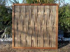 Panneau en bambou pour jardin contemporain, zen ou japonais, terrasses et patios, palissade, clôture, barrière, brise vue