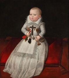 Ana Mauricia de Austria, hija del rey Felipe III. Juan Pantoja de la Cruz, 1602