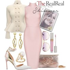 Holiday Sparkle With The RealReal: Contest Entry by kioriknight on Polyvore featuring Posh Girl, Alexander McQueen, Manolo Blahnik, Chanel, Ross-Simons, Marc Jacobs and Stila