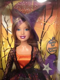 HTF 2006 Halloween Charm Barbie Doll Beauty Mark Mole Multi Color Hair Season