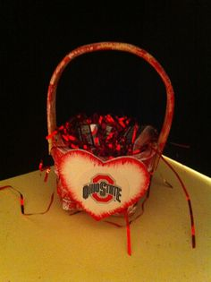 Hey, I found this really awesome Etsy listing at https://www.etsy.com/listing/121125673/ohio-state-buckeyes-basket-for