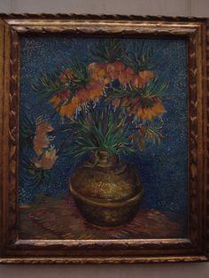 "Van Gogh, ""Crown Imperials in a Copper Vase""  1880"