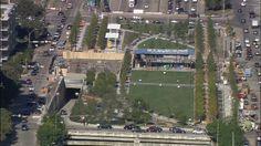 """Officials ready innovative deck park over Dallas freeway"" via wfaa.com"